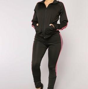 NEW Fashion Nova 3 Piece Set Black Pink One Size